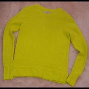 Loft bright yellow acrylic wool blend sweater
